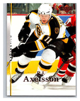 2007-08 Upper Deck #167 P.J. Axelsson Bruins