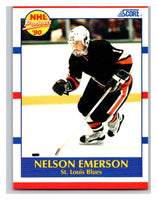 1990-91 Score #383 Nelson Emerson Mint RC Rookie