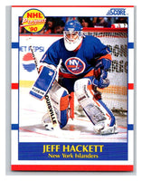 1990-91 Score #388 Jeff Hackett Mint RC Rookie