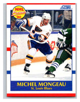 1990-91 Score #395 Michel Mongeau Mint RC Rookie