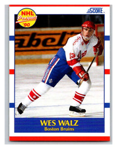1990-91 Score #418 Wes Walz Mint RC Rookie