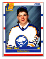 1990-91 Score #427 Brad May Mint RC Rookie