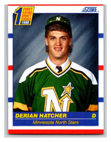 1990-91 Score #430 Derian Hatcher Mint RC Rookie