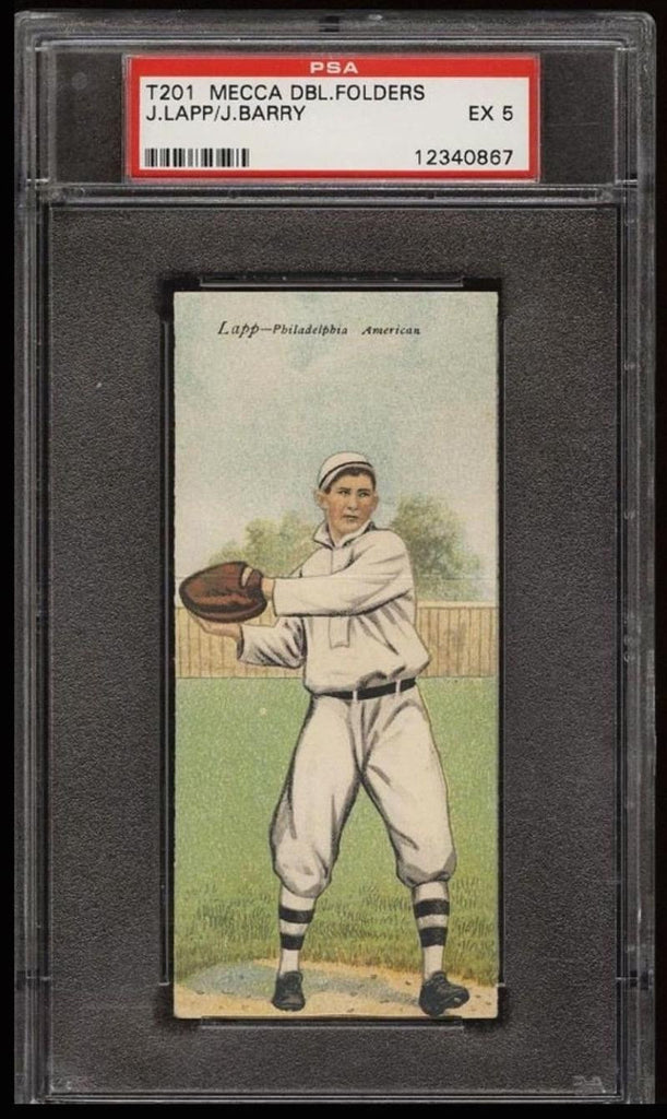 1911 T201 Mecca Double Folders JACK LAPP / JACK BARRY PSA 5