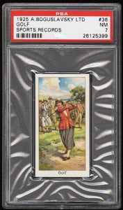 1925 Turf Cigarettes Boguslavsky Sports Records Golf #36 PSA 7 NRMT
