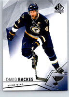 2015-16 Upper Deck SP Authentic #69 David Backes Blues