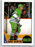 1987-88 O-Pee-Chee #5 Dave Babych Whalers Mint