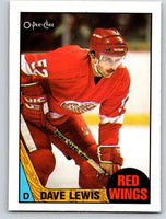 1987-88 O-Pee-Chee #37 Dave Lewis Red Wings Mint