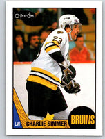 1987-88 O-Pee-Chee #52 Charlie Simmer Bruins Mint