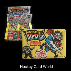 1988 Leaf Awesome All-Stars Baseball Trading Card Pack with Gum