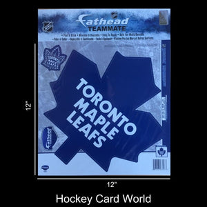 "Toronto Maple Leafs 12"" Fathead Jumbo Multi-Use Coloured Decal Sticker"