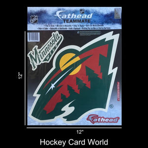 "Minnesota Wild 12"" Fathead Jumbo Multi-Use Coloured Decal Sticker"