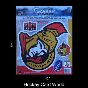 "Ottawa Senators 12"" Fathead Jumbo Multi-Use Coloured Decal Sticker"