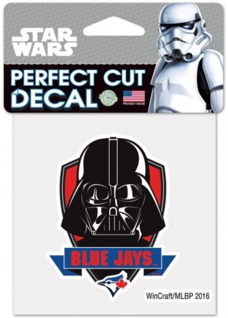 "Toronto Blue Jays VADER Perfect Cut MLB 4""x 4"" Star Wars Decal Sticker"