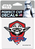 "Toronto Blue Jays YODA Perfect Cut MLB 4""x 4"" Star Wars Decal Sticker"