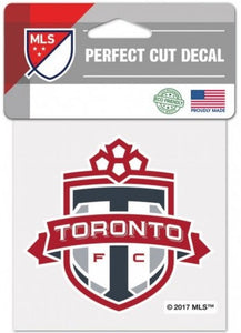 "Toronto FC Soccer Perfect Cut 4""x 4"" MLS Sticker Decal"