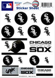 "(HCW) Chicago White Sox Vinyl Sticker Sheet 5""x7"" Decals MLB Licensed Authentic"