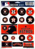 "(HCW) Houston Astros Vinyl Sticker Sheet 5""x7"" Decals MLB Licensed Authentic"