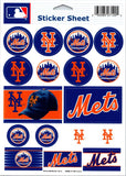 "(HCW) New York Mets Vinyl Sticker Sheet 5""x7"" Decals MLB Licensed Authentic"