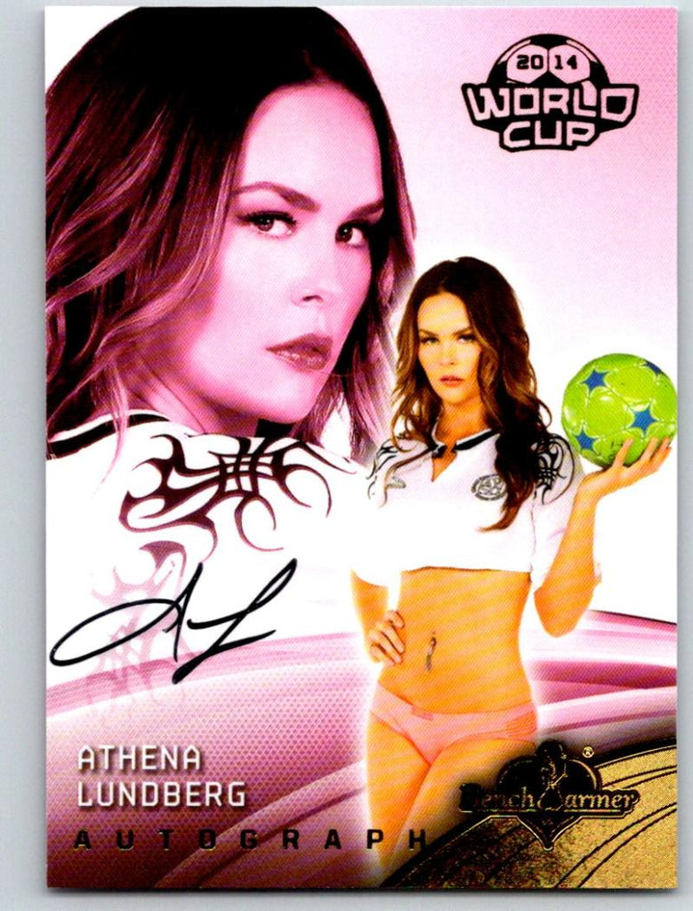 (HCW) 2014 Bench Warmer Soccer World Cup Autographs Athena Lundberg 03564