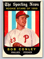1959 Topps #121 Bob Conley RC Rookie Phillies 3594