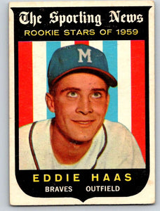 1959 Topps #126 Eddie Haas RC Rookie Braves 3597