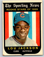 1959 Topps #130 Lou Jackson RC Rookie Cubs 3600
