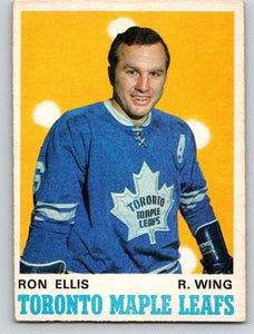 1970-71 O-Pee-Chee #221 Ron Ellis NM+ Hockey NHL Maple Leafs 03667