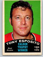 1970-71 O-Pee-Chee #247 Tony Esposito NM Near Mint Hockey NHL Blackhawks 03670