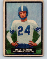1951 Topps Magic #58 Dave Waters  Football NFL Vintage Card 03759