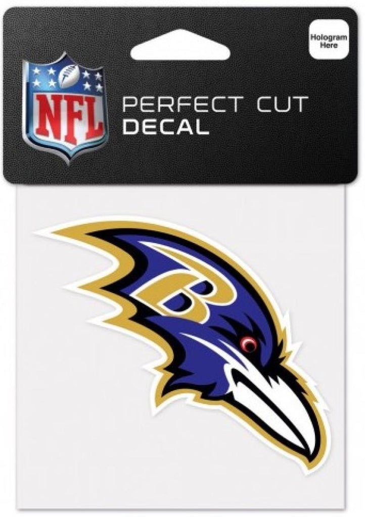 "Baltimore Ravens Perfect Cut Colour 4""x4"" NFL Licensed Decal Sticker"