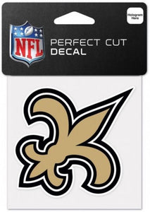 "New Orleans Saints Perfect Cut Colour 4""x4"" NFL Licensed Decal Sticker"