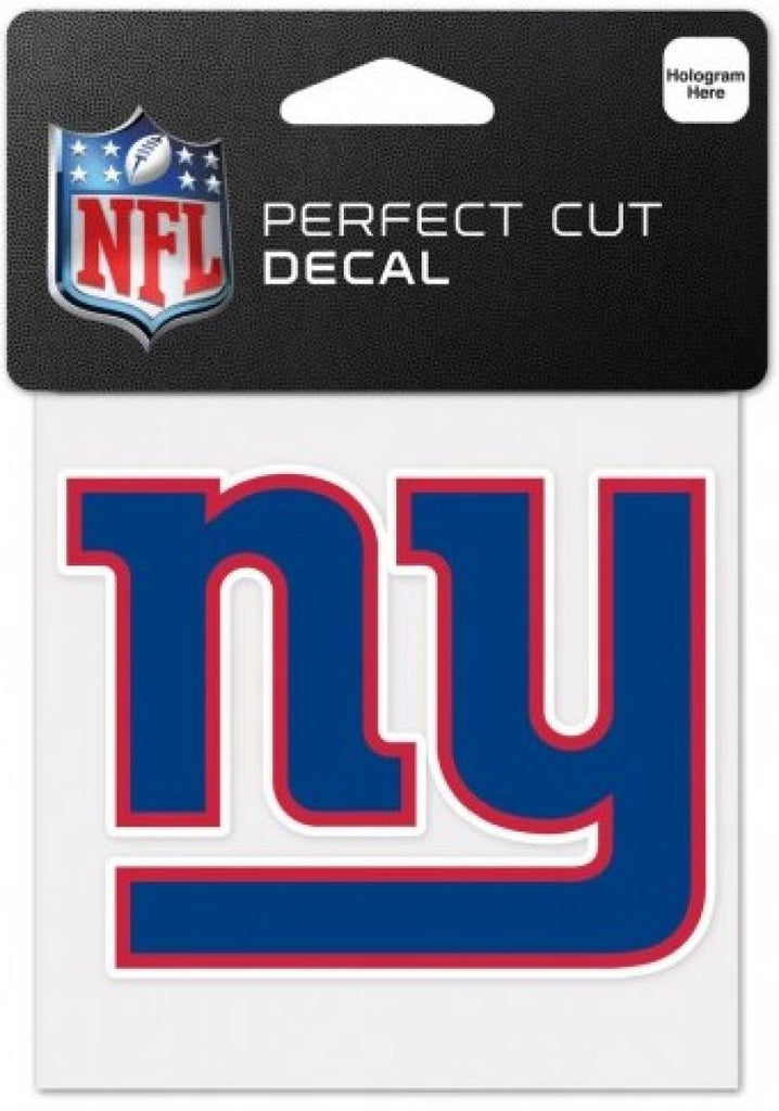 "New York Giants Perfect Cut Colour 4""x4"" NFL Licensed Decal Sticker"