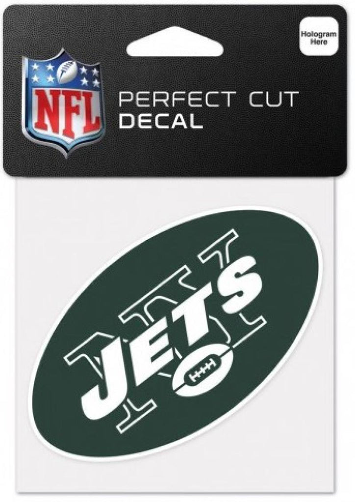 "New York Jets Perfect Cut Colour 4""x4"" NFL Licensed Decal Sticker"