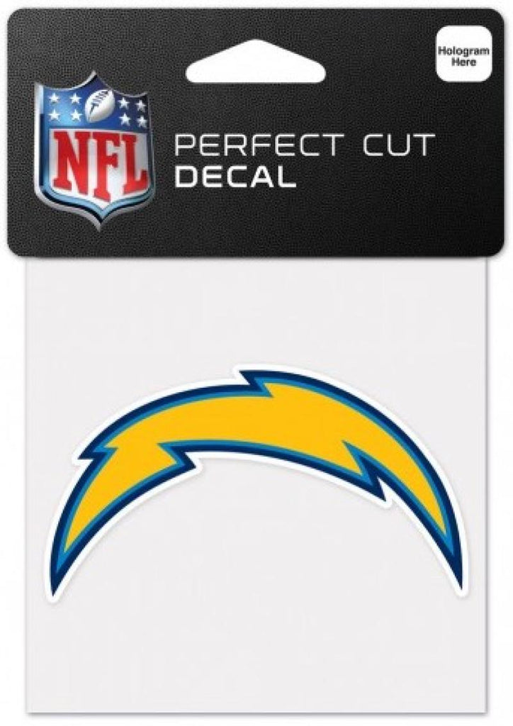 "San Diego Chargers Perfect Cut Colour 4""x4"" NFL Licensed Decal Sticker"