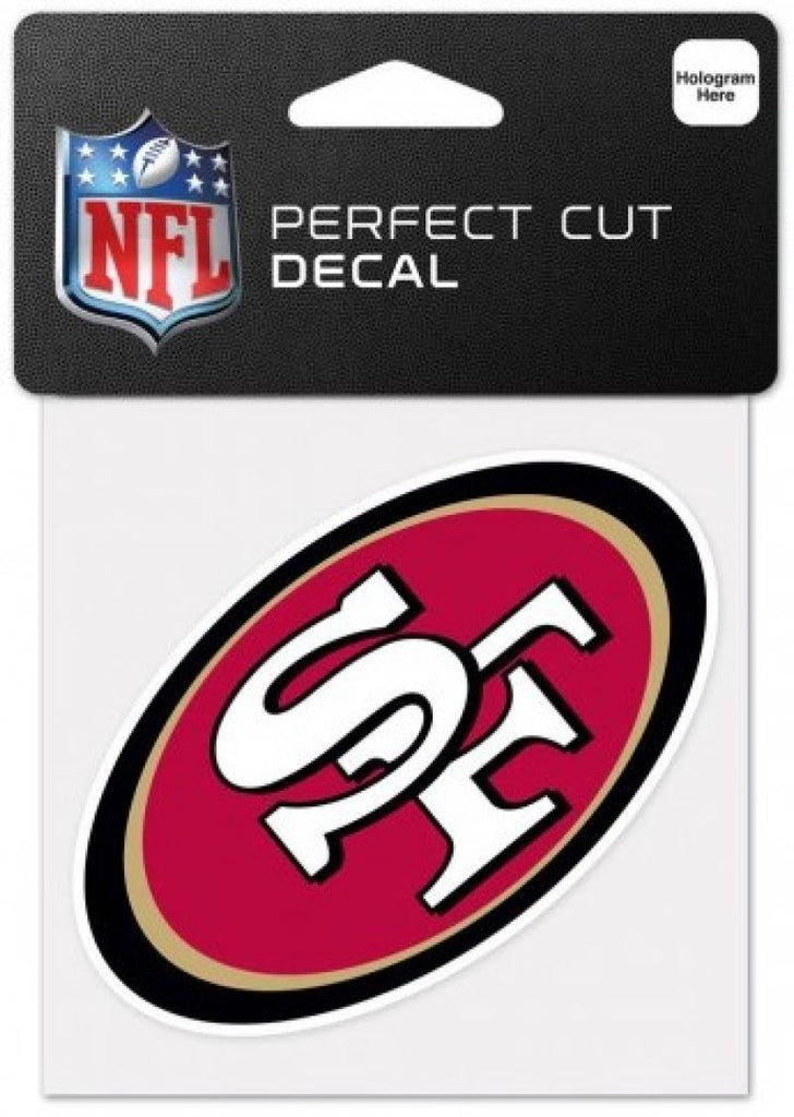 "San Francisco 49ers Perfect Cut Colour 4""x4"" NFL Licensed Decal Sticker"