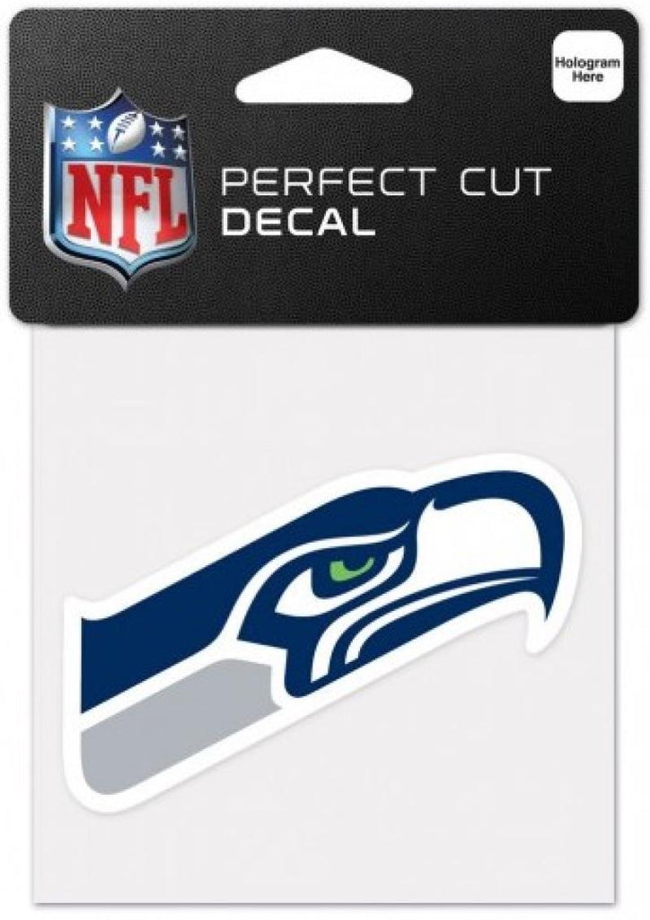"Seattle Seahawks Perfect Cut Colour 4""x4"" NFL Licensed Decal Sticker"