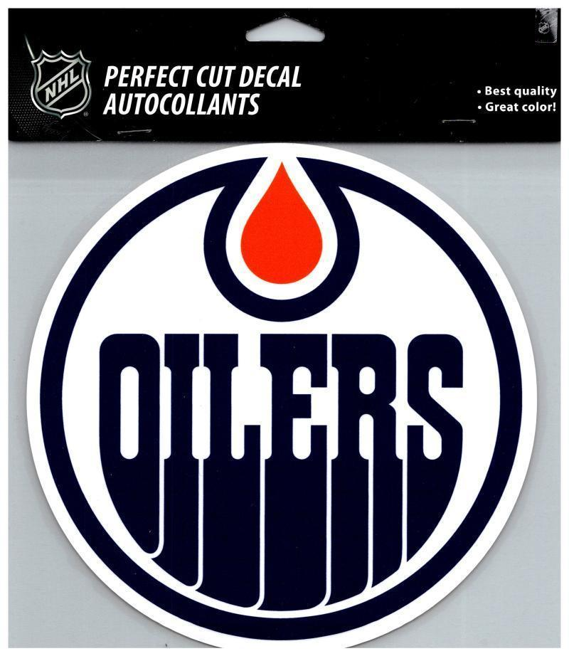 Edmonton oilers perfect cut 8x8 large licensed decal sticker