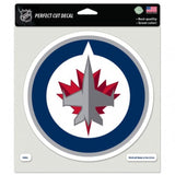 "Winnipeg Jets Perfect Cut 8""x8"" Large Licensed Decal Sticker"
