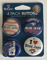 Toronto Blue Jays Wincraft Button 4 Pack 1.25