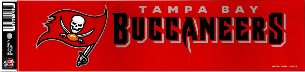 "Tampa Bay Buccaneers 3"" x 12"" Bumper Strip NFL Football Sticker Decal"