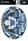 "Toronto Maple Leafs Multi-Use Stained Glass Decal 11""x17"" - Reusable"