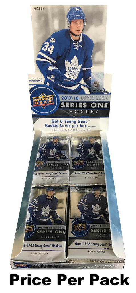 2017-18 Upper Deck Series 1 Hobby Pack - Hischier, McAvoy, Patrick YG & More