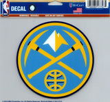"Denver Nuggets Multi-Use Decal Sticker NBA 5""x6"" Basketball"