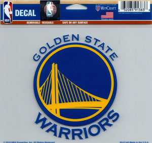 "Golden State Warriors Multi-Use Decal Sticker NBA 5""x6"" Basketball"
