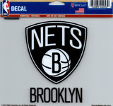 "Brooklyn Nets Multi-Use Decal Sticker NBA 5""x6"" Basketball"