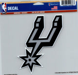 "San Antonio Spurs Multi-Use Decal Sticker NBA 5""x6"" Basketball"