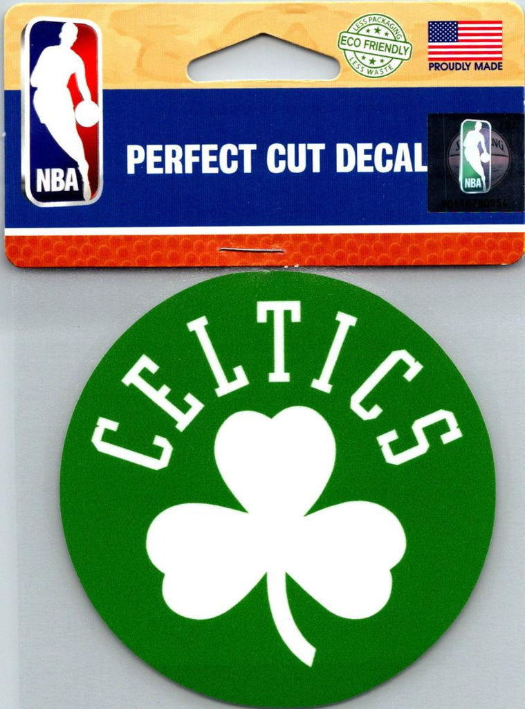 "(HCW) Boston Celtics Perfect Cut Colour 4""x4"" NBA Licensed Decal Sticker"
