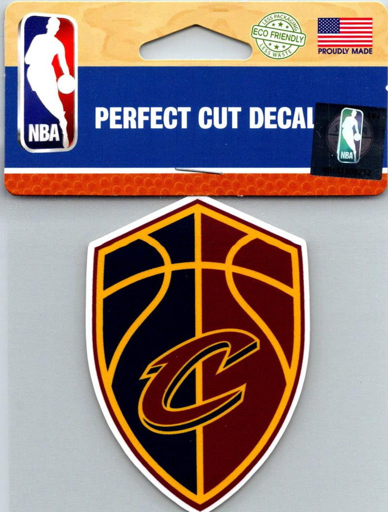 "(HCW) Cleveland Cavaliers Perfect Cut Colour 4""x4"" NBA Licensed Decal Sticker"