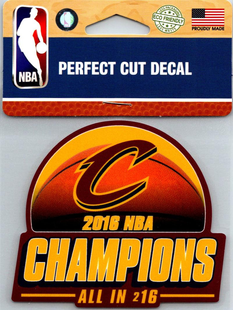 "(HCW) Cleveland Cavaliers Champs Perfect Cut Colour 4""x4"" NBA Licensed Decal Sticker"
